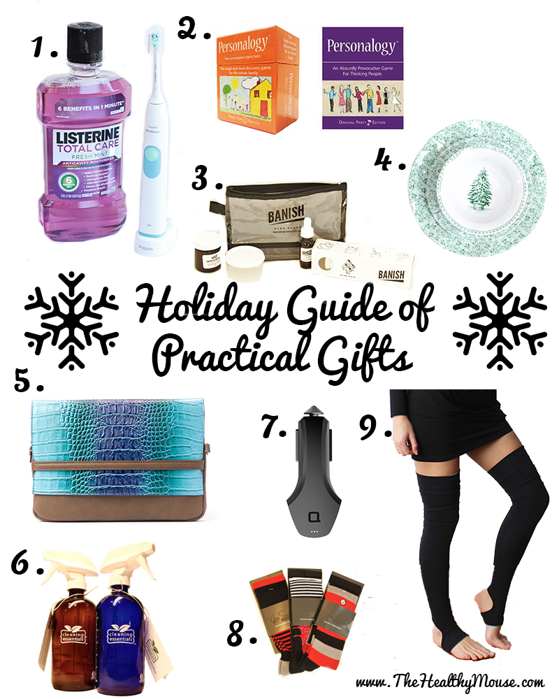 Holiday gift guide that includes practical gifts! Finally get loved ones gifts that they can use year round.