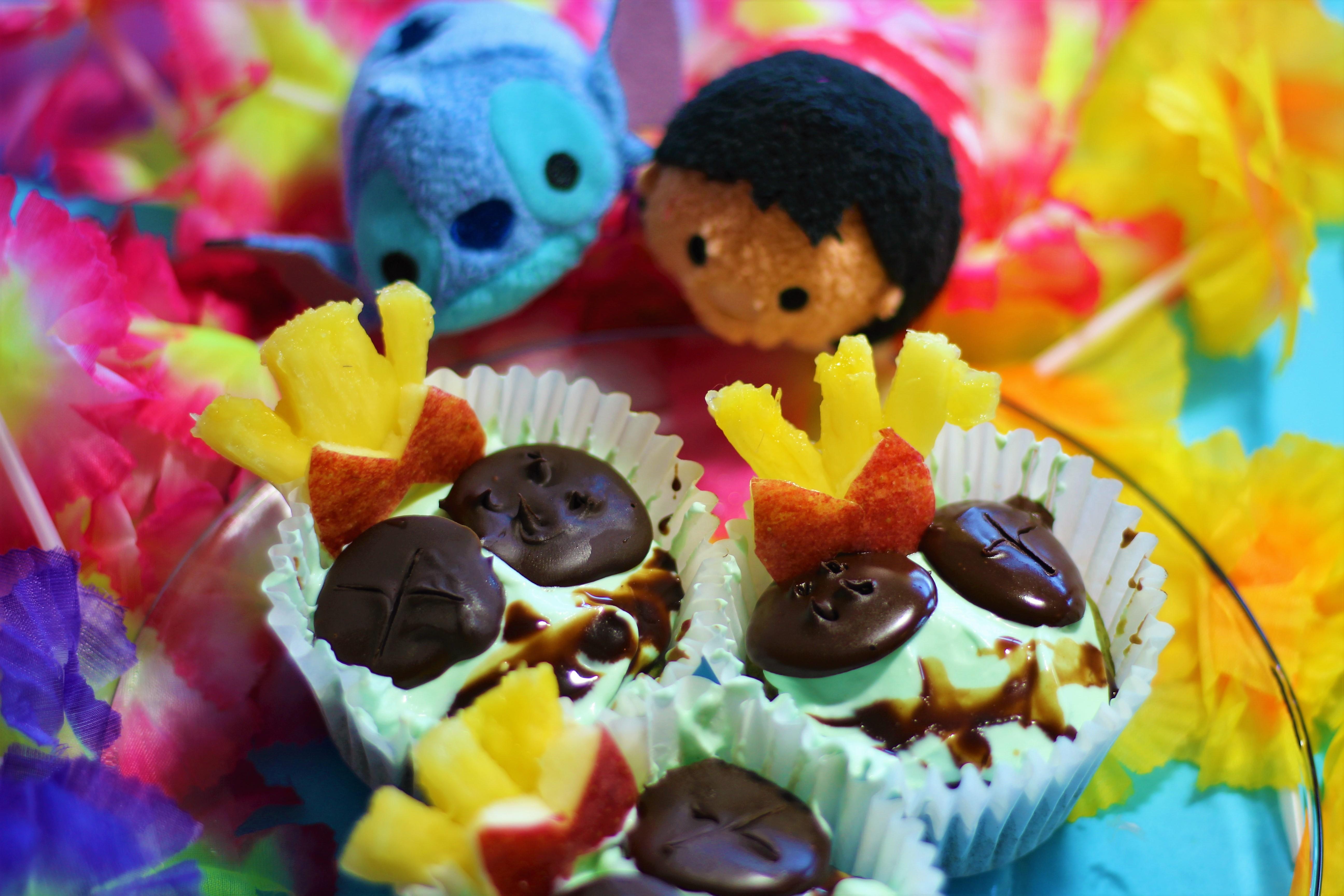 Scrumpcakes ! Vegan Disney Lilo & Stitch cupcakes ! Vegan cupcakes, Disney Cupcakes, Lilo & Stitch food