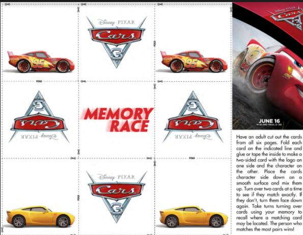 Disney Pixar Cars 3 Free Printable Activity Sheets Activities: Car Activity Sheets At Alzheimers-prions.com