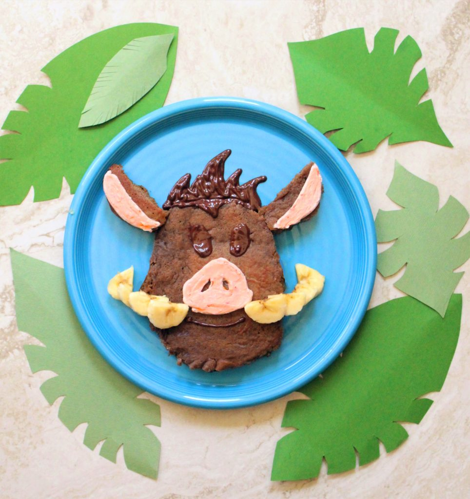 Pumba Emoji Inspired Healthy Chocolate Pancakes The