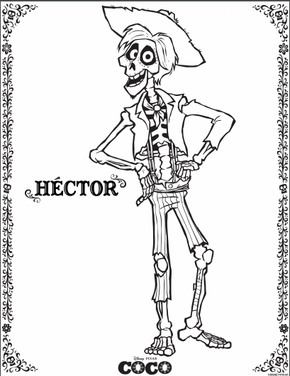 Disney & Pixar Coco Coloring Pages - The Healthy Mouse