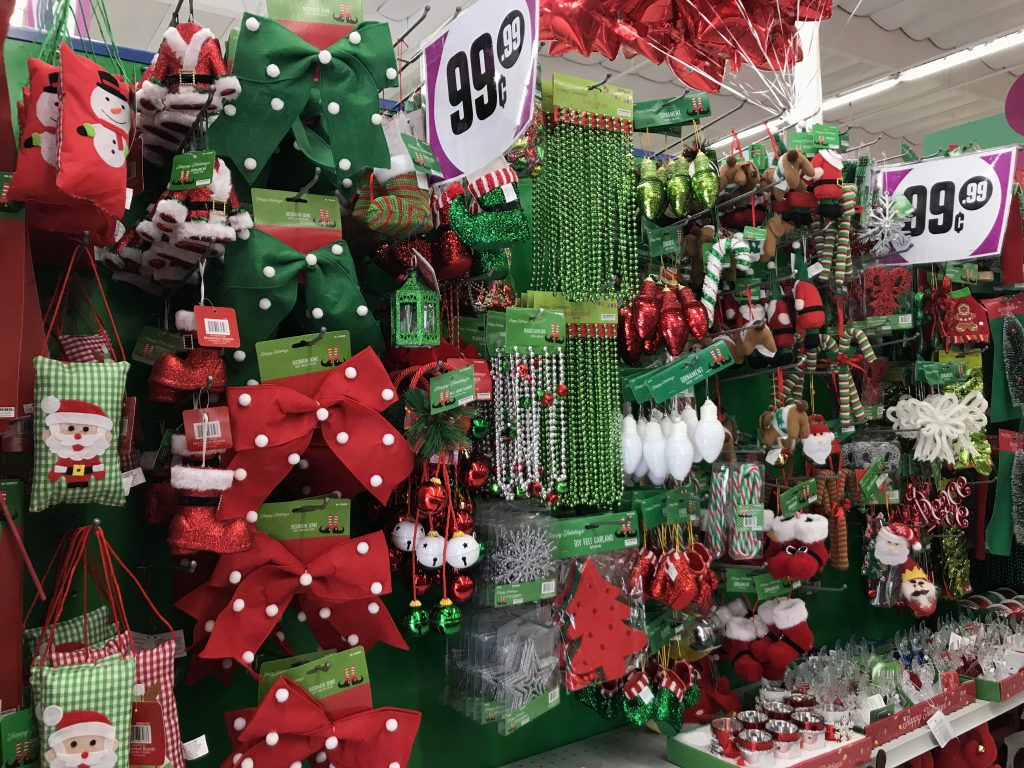 99 cents only store has lots of adorable holiday merchandise at the store along with many name brand items at prices that cant be beat - 99 Cent Store Christmas Decorations