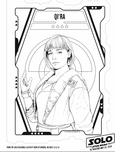 Solo A Star Wars Story Coloring Pages And Activity Pages The