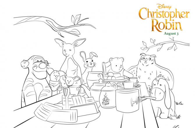 Christopher Robin Coloring Pages And Activity Sheets The Healthy Mouse