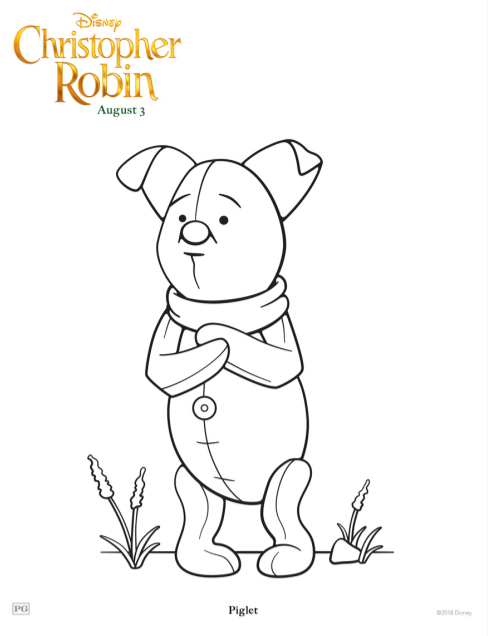 Christopher Robin Coloring Pages and Activity Sheets The