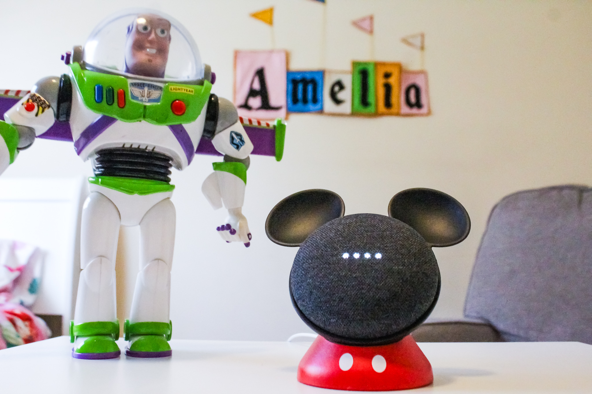 detailed look abc56 d357d Disney Magic With Google Home and OtterBox Exclusive Mickey Mouse Stand