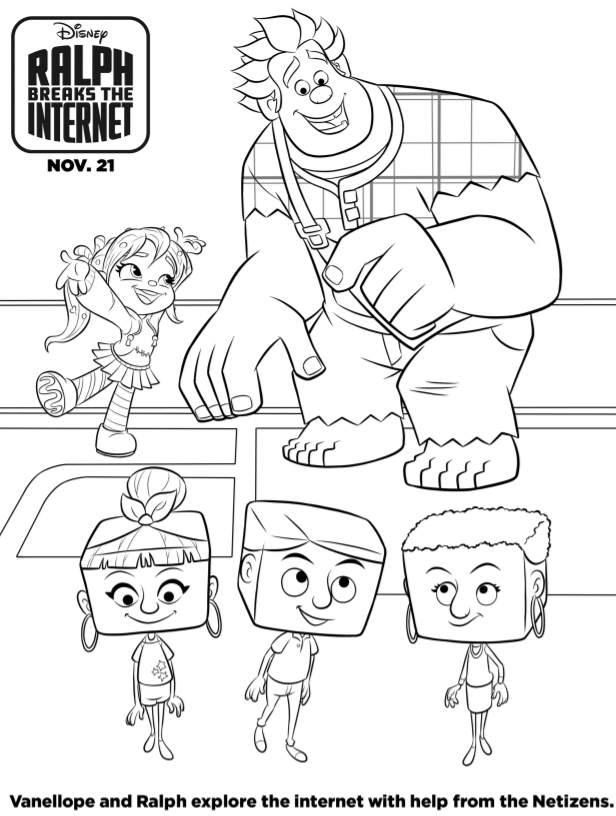 Ralph Breaks The Internet Coloring Pages And Activity Sheets The