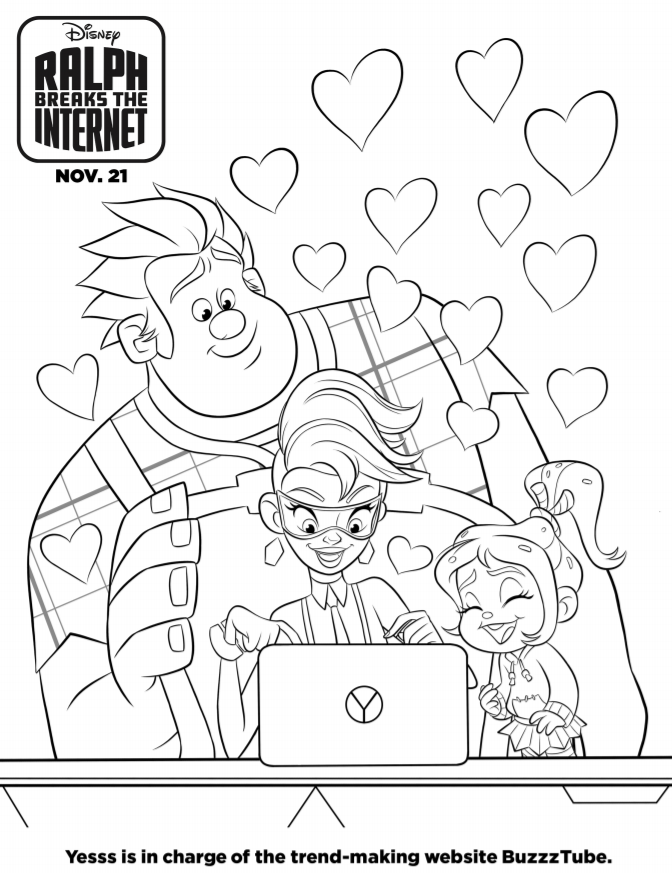Ralph Breaks The Internet Coloring Pages And Activity Sheets