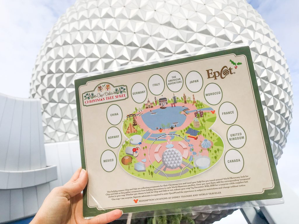 epcot scavenger hunt chip dale s christmas tree spree the