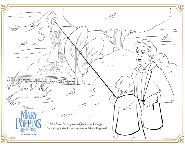 Mary Poppins Returns Coloring Pages and Activity Sheets - The ...