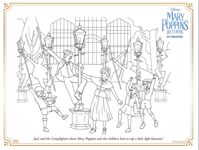 Mary Poppins Returns Coloring Pages And Activity Sheets The