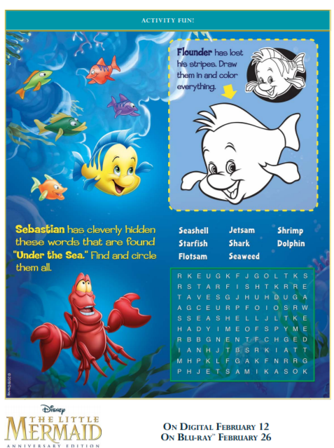 The Little Mermaid Coloring Pages And Activity Sheets The Healthy Mouse
