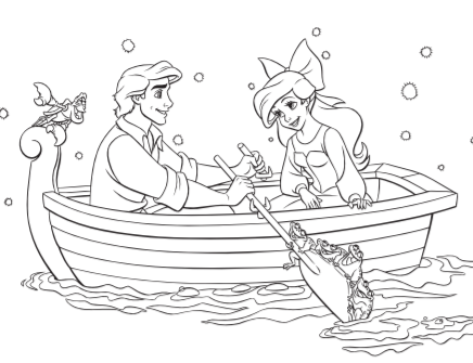 Mermaid coloring page | Free Printable Coloring Pages | 335x436